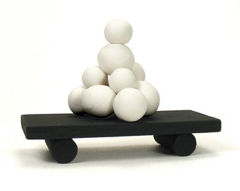 White ZaZen Bubble Form Art Sculpture - Padmasana /  Home Decor, Zen, Meditation,  Miniature Art