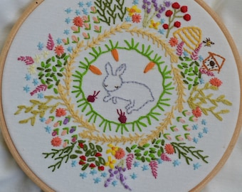 How does your garden grow? Embroidery Sampler PDF pattern