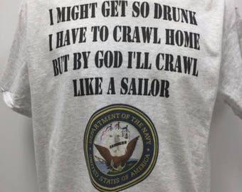 Navy Drinking Shirt
