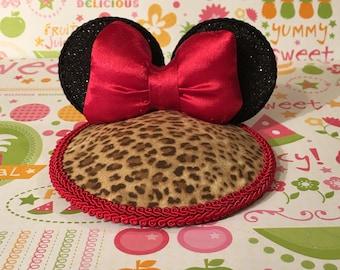 Cheetah Minnie Fascinator Hat