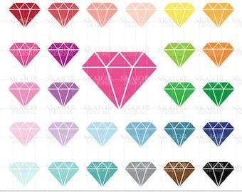 Diamonds Clipart Vector Diamonds Clip Art Rainbow Diamonds Clipart Scrapbooking Diamonds Planner Sticker Clipart Jewelry Clipart Wedding