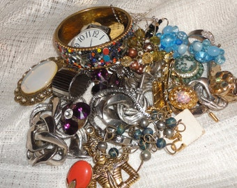 RESERVED Vintage lot of jewelry repair, wear, repurpose,recycle, upcycle, crafts