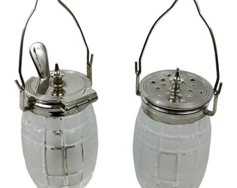 Sterling Silver Mustard Pot and Pepper Jar