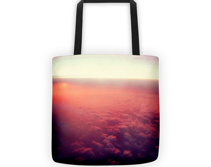 Pink Sunset Tote for Eco Shopping and School and Sundry