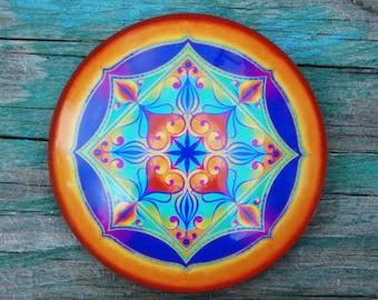The Spiritual Heart mandala magnet