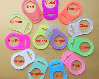 10 Colorful Silicone Mam Adapters Rings for Dummy Clips/Pacifier Soother Chains,Mixed 13 Colors