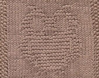 Owl Knit Dishcloth Pattern Only *PDF Digital Download*