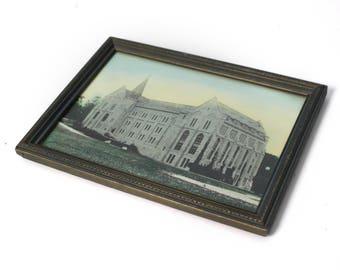 Vintage Framed Hand Colored Photograph