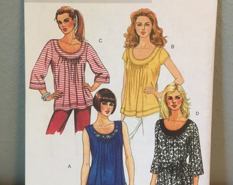 Butterick Sewing Pattern B5219 Ladies Pullover Top and Belt Size FF 16 18 20 22