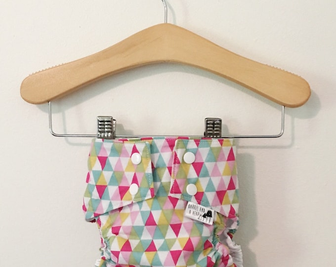 Triangles PUL Lined Water Resistant Diaper Cover Available in Small