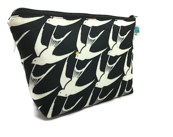 Cosmetic Bag - Makeup Bag - Accessory Bag - Make up Bag - Toiletry Bag - Gadget Bag -Jewelry Pouch in King Sparrow
