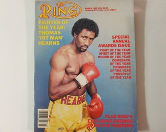 """The Ring Magazine March 1985 Thomas """"Hit Man"""" Hearns"""
