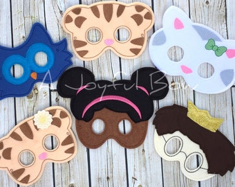 Dan and friends dress up and birthday party favor masks, daniel tiger birthday, daniel tiger presents, daniel tiger party
