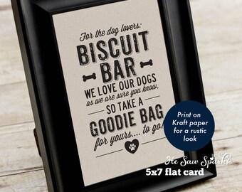 Printable Biscuit Bar Sign - Wedding Favor Sign