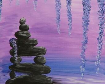 Stones on a Pond art print