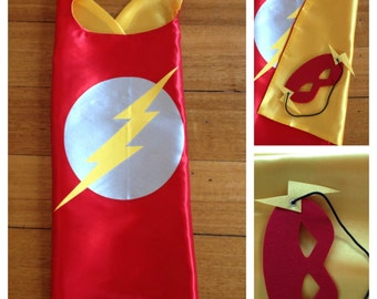Flash Cape & Mask Set