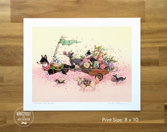 Portland Pup Parade (SMALL) - Fine Art Print by Nicole Gustafsson