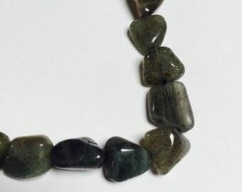 Labradorite Nugget Beads - 33 Pieces - #348