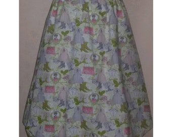 Balloon skirt. Single head, made of cotton with a particular print. One size.