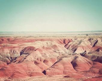 Painted Desert - Arizona photograph, landscape photography, Southwestern decor, fine art, retro, desert artwork