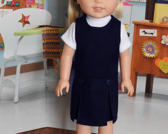 14.5 Inch Doll Clothes Navy School Uniform Fits Wellie Wishers Doll