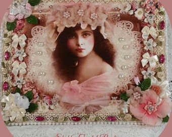 ROSIE Altered Shabby Chic Picture