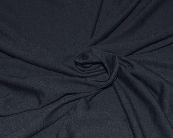"Soft Black Poly Jersey Knit Fabric 56"" Wide"
