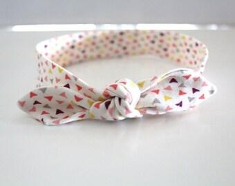 Multicolor baby bow headband