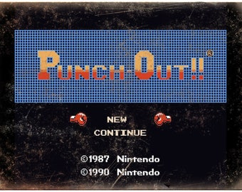 """Mike Tysons Punch Out Start Screen Nintendo 10""""x7"""" Reproduction Metal Sign G124"""