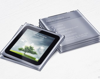 iPod Business Cards - Music - Design and Printing - 16PT UV - 250, 500, 1000, 2500 | FREE Shipping |