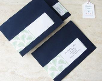 Wedding Invitation Wrap Around Label - Palm Beach Address Label - Return Address - Choose Your Color