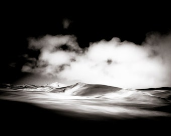 Sand Dunes Fine Art  Photography - Desert Wall Art- Monochrome African Landscape - Home Decor