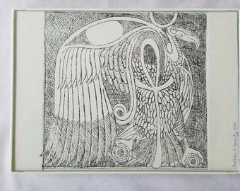 Vulture Etching