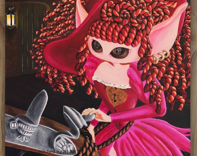 """She Said; I'm not for Sale  - 11x14"""" Repro Print - Muse inspired by the Red Head Pirates of the Caribbean - MuseArt"""