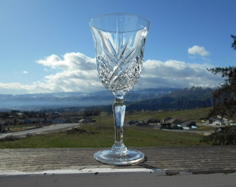 "Cristal d'Arques - Durand 'Masquerade' Goblet or Wine Glass, 3"" Diameter x 6-3/8"" Tall, Sold Individually"