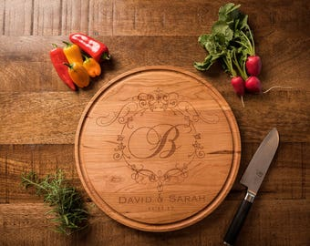 Engraved Cutting Board - Cutting Board Wedding Gift Personalized - 5th Anniversary Gift - Engagement Gift for Couple - Custom Cutting Board