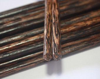 "Chopstick Classic Japanese Handmade Palm Wood 2 4 6 8 10 Pairs 9.50"""