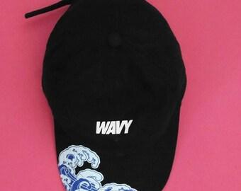 NEW WAVY V2 KYC Vintage Strapback Cap Dad Hat Black White Pink