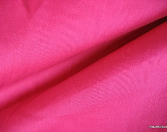 Extra Wide Solid Fuchsia Cotton Sateen Fabric by the Yard