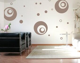 Supersized Circles - Vinyl Wall Decal