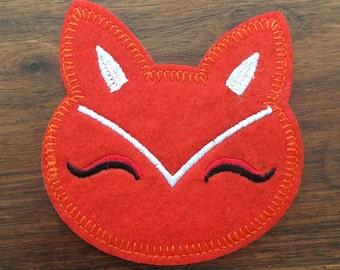 Fox Head - Iron on Appliqué Patch