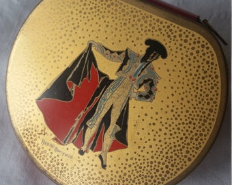 Vintage 1950s Annette Honeywell  signed Lady Vanity matador compact