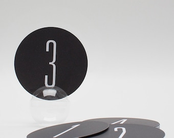 Modern Wedding Table Numbers (15), Black and White Table Numbers, Wedding Paper