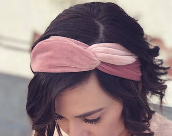 Blush Crush Velvet Wire Headband by Byrd