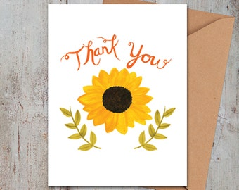 Thank You Sunflower Card