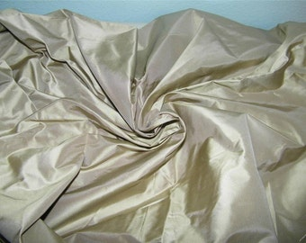 1 1/4 Yards Taupe Taffeta Fabric 12419 Beige Tan