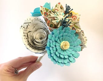 Mixed Paper Flower Posy