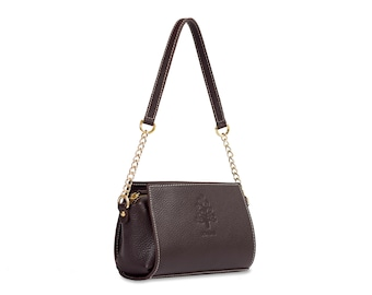 Handbag. Brown. MARTINA- MARRÓN
