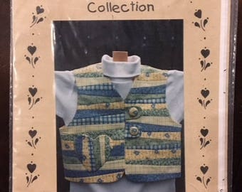 Little Scrappity Vest by The Briar Rose Collection - Size 4-6-8 - Paper Pattern