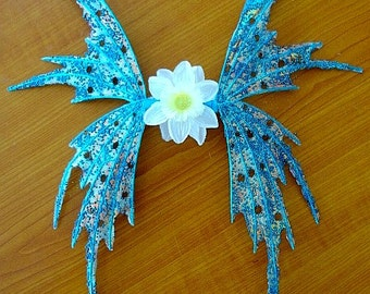 Fee Flügel-schillernde Aqua Blue Fairy-Puppe oder Kind Größe (Made auf Anfrage)